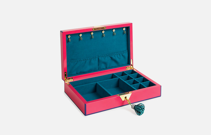 Lacquer Jewelry Box (Fuchsia)
