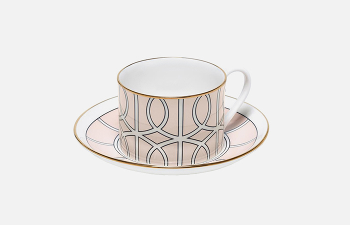 Loop tea cup & saucer (gold)