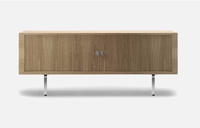 CH825 - Credenza oak oil stainless steel veneer