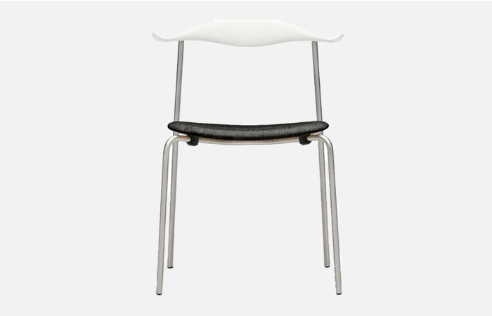 CH88P - Chair beech S0502-Y white Chrome