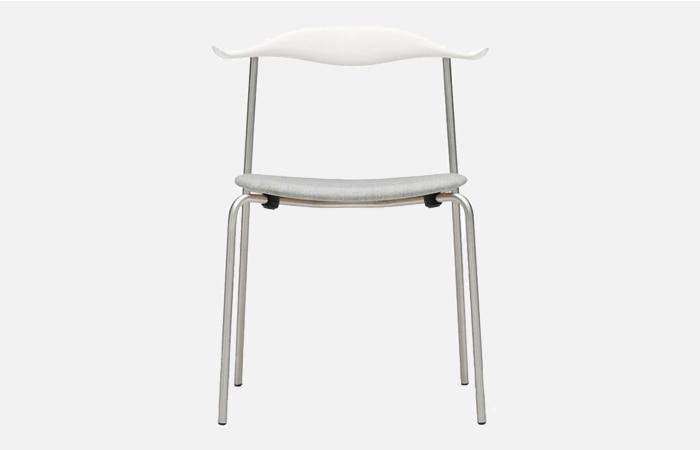 CH88P - chair beech S0502-Y white Chrome CMHR Remix