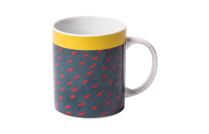 Mug Red dashes (RIO 256)