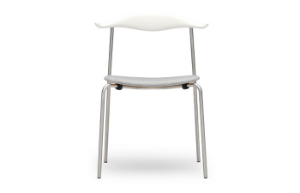 CH88P Chair upholstered Beech white Chrome Remix