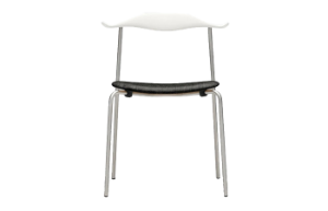CH88P Chair upholstered Beech white Chrome Mood