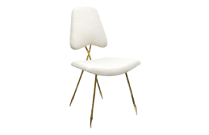 Jonathan Adler Maxime Dining Chair (Ivory) (display sale)