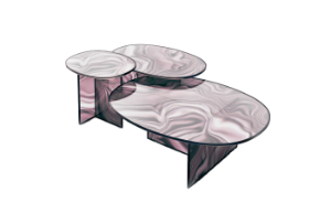 Liquefy oval cofee table