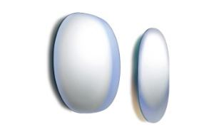Shimmer oval wall-mounted mirror