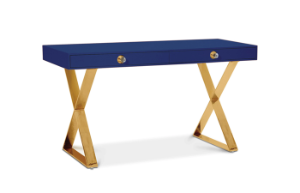 Channing Desk (Navy/Brass) (display sale)