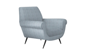 Marcello Lounge Chair (Biarritz Ocean) (display sale)