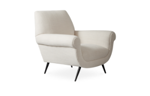 Marcello Lounge Chair (Trinidad Snow) (display sale)