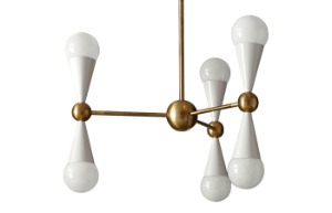 Caracas 6-Light Chandelier (IVORY) (display sale)