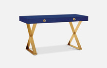 Channing Desk (Navy/Brass)