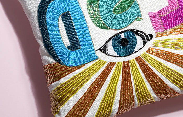 LSD Beaded Pillow